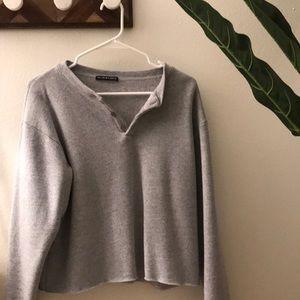 Brandy Melville Grey Long-Sleeve Pullover